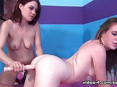 Amazing pornstars Jessie Parker, Mattie Borders, Aiden Ashley in Crazy College, Big Tits adult movie