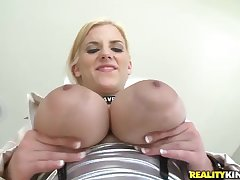 Huge boobed Haley Cummings passionately fucking with Voodoo!