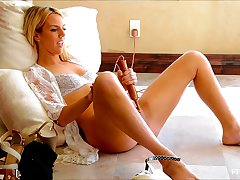 Amazing pornstar in Incredible Blonde Solo Girl adult scene